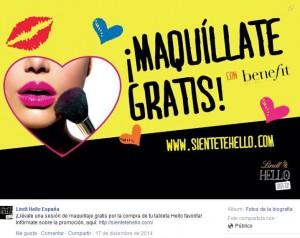 Facebook Lindt Hello. Campaña