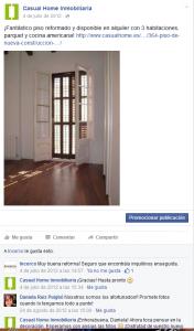 Facebook Casual Home. Interacción