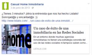 Facebook Casual Home. Entrevista