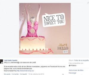 Facebook Lindt Hello. Lanzamiento