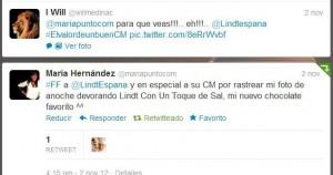 Twitter Lindt España. Valoración